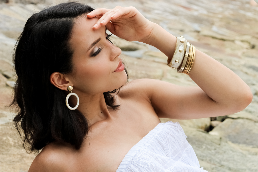 """Ashepa makes jewellery inspired by """"Afroluxe"""", made by artisans from Kenya"""