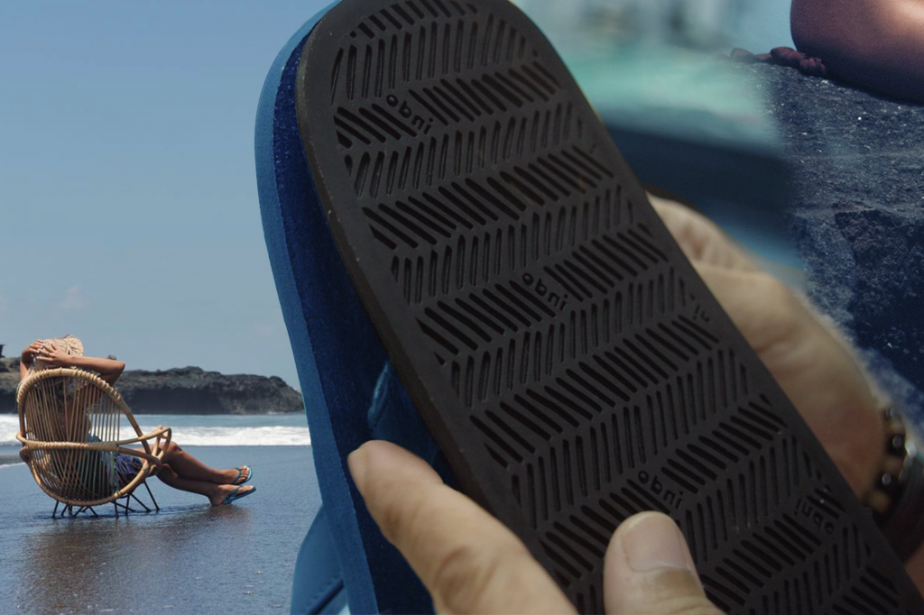 Indosole makes sustainable flip flops and slides from rubber tyres
